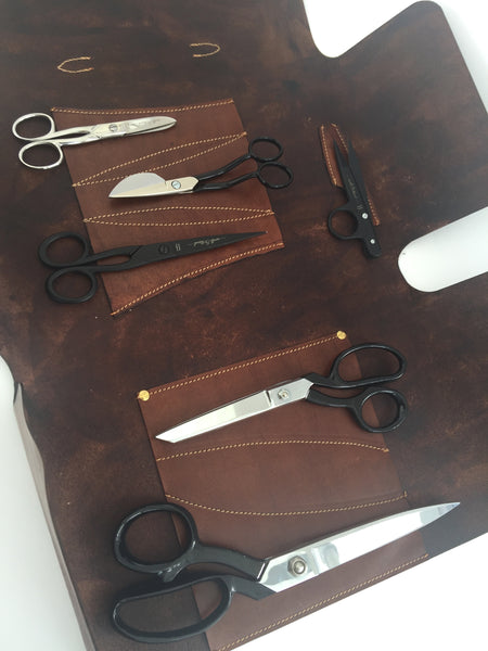 Handmade Leather Scissor Case complete with Ultimate Scissor Collection