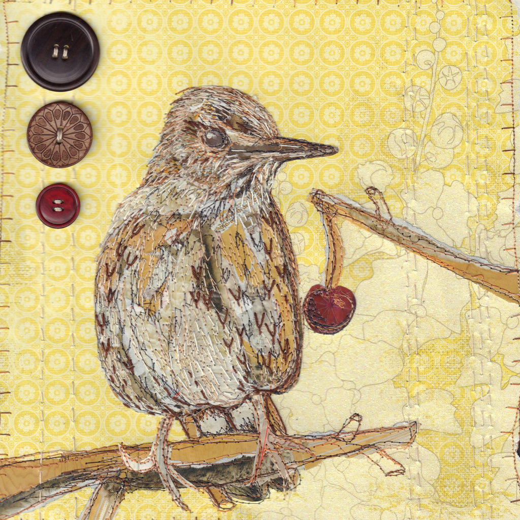 Birdy Stitched Collage with Anne Brooke Textile Artist Saturday 5th October  2019