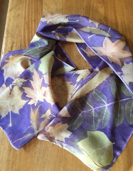 Eco Printing Techniques and An Eco Printed Silk Scarf with Fiona Balding - Saturday 17th October 2020