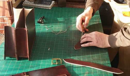 Handmade Leather Scissor Case