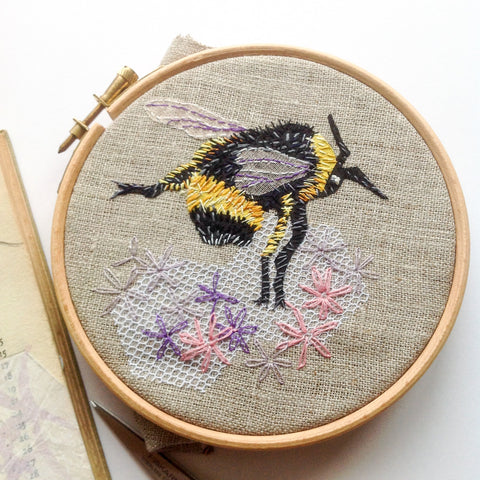 Hand Stitched Ladybird or Bee with Heather Everitt Sunday 23rd June 2019