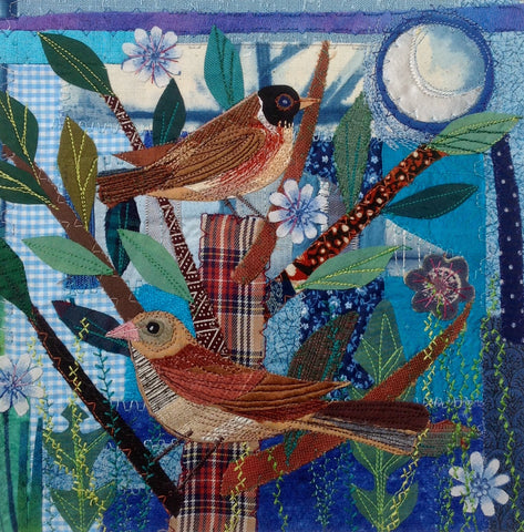 Birds & Flowers Embroidered Fabric Collage with Rachel Sumner - Saturday 19th or Sunday 20th May 2018