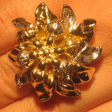 Gold and Silver Blossom Ring