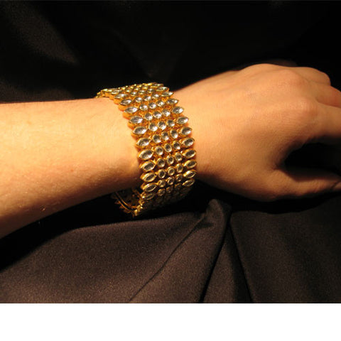 Cut Glass Cuff
