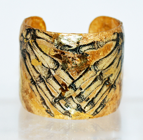 Bony Hands Gold Leaf Cuff