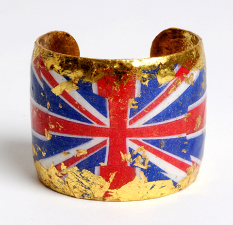 British Flag Gold Leaf Cuff