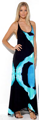 Ciara Knit Maxi Dress in Blue Moon