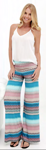 Basic Knit Pants in Ocean