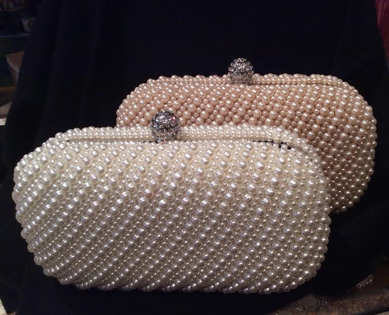Pearl Clutch - Fashion clothes, NYC, designer, [product type] - women's apparel, clothing, accessories, hats, attire, Siren Boutique Siren Boutique