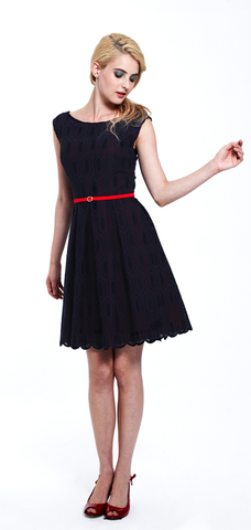 Madeline Scalloped Eyelet Dress