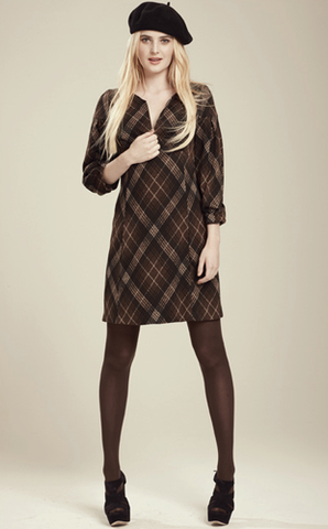 Erin Plaid Zipper Dress