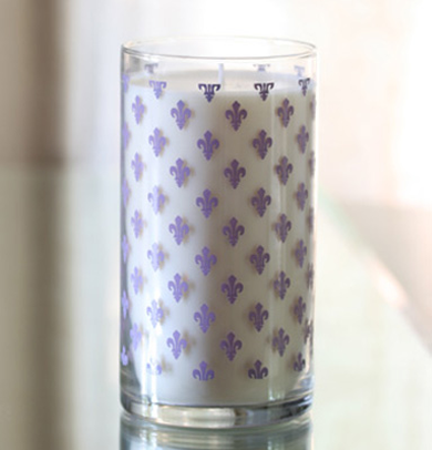 Lavender Screen Printed Candle