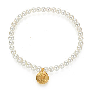 Satya Pearl Lotus Bracelet - Fashion clothes, NYC, designer, [product type] - women's apparel, clothing, accessories, hats, attire, Siren Boutique Siren Boutique
