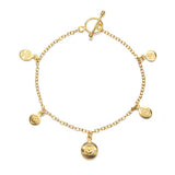Om, Hamsa and Lotus Charm Bracelet - Pieces of You