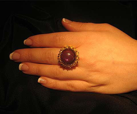 Thistle Orb Ring