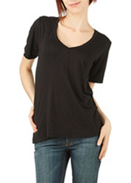 Short Sleeved Relaxed V-Neck Tee