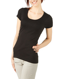 Short Sleeved Scoop Neck Tee