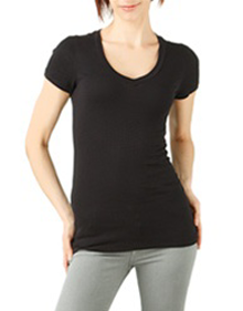 Short Sleeved V-Neck Tee Shirt