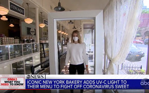 Fred Maxik and Magnolia Bakery's use of a Healthe Far-UVC Cleanse® Portal are featured on ABC