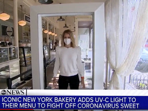 ABC features Healthe CSO Fred Maxik and Magnolia Bakery's use of a Cleanse® Far-UVC Portal
