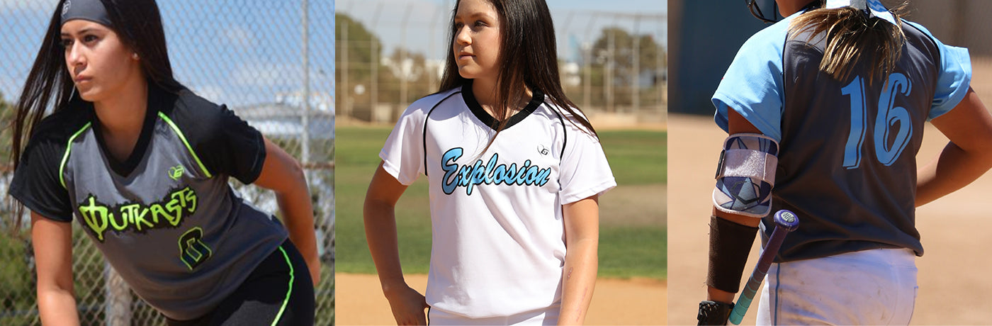 Custom Girls Softball Uniforms  4a1069ee7