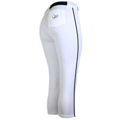 Girls Belted Softball Pants with Side Braid
