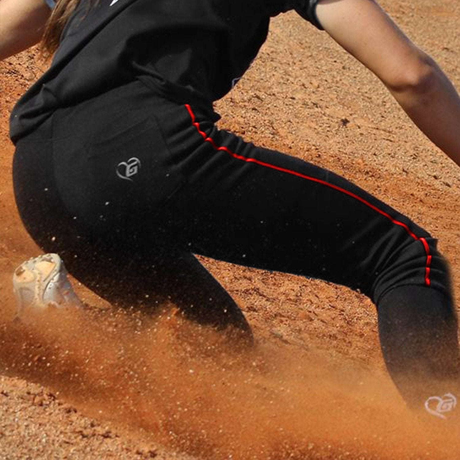 Girls Softball Pants with Piping