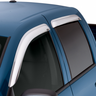 RAM 1500/2500/3500 QUAD CAB SIDE WINDOW DEFLECTOR CHROME