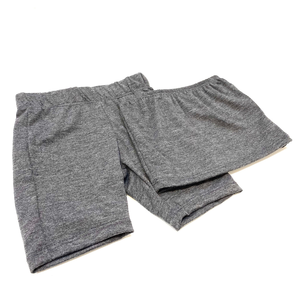 Solid Charcoal Bandeau & Biker Shorts Set for kids