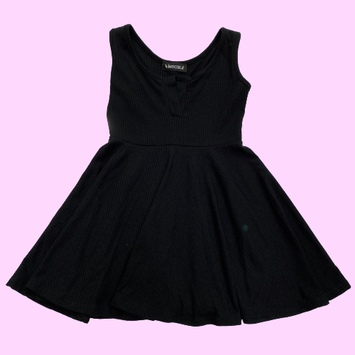 Black V-Neck Minimalist Dress