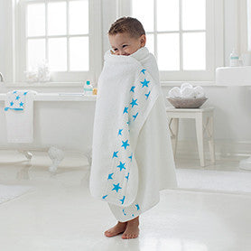 Aden + Anais Fluro Blue Toddler Towel - Belle Bellina  - 2