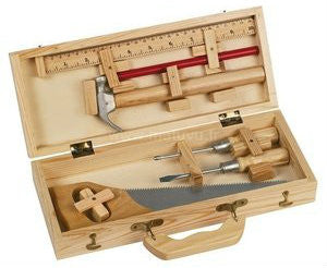 """I am Working"" Wooden Tool Valise - Belle Bellina"