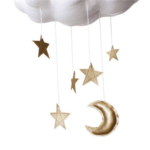 Baby Jives Gold Star Cloud Mobile - Belle Bellina