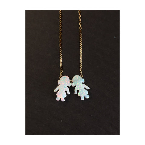 Kiddie Opal Necklace - Belle Bellina