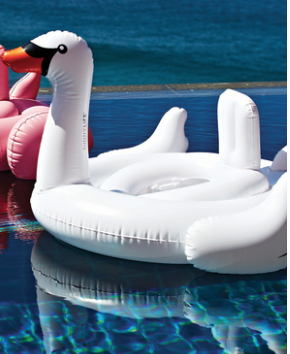 SunnyLife Baby Inflatable Swan - Belle Bellina  - 2