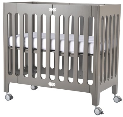 Bloom Alma Mini Urban crib frame - frost grey - Belle Bellina  - 1