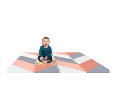 Skip Hop PLAYSPOT Geo Foam Floor Tiles Playmat - Belle Bellina  - 3