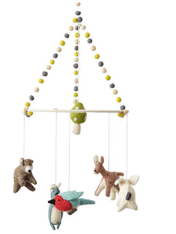 Petit Pehr Woodland Creatures Mobile - Belle Bellina