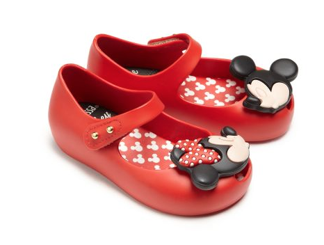 Mini Melissa Ultragirl Disney Mary Jane Flats - Belle Bellina