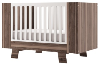 Dutailier Walnut Pomelo Crib Convertible 3 IN 1 - Belle Bellina