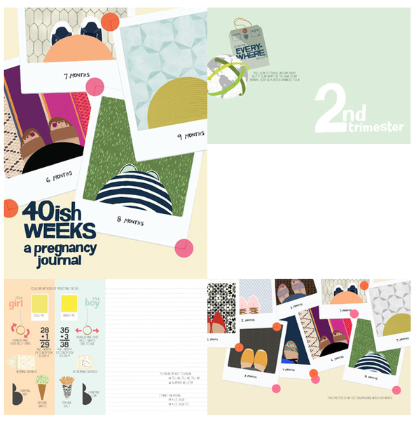 40ish Weeks A Pregnancy Journal  By Kate Pocrass - Belle Bellina  - 2