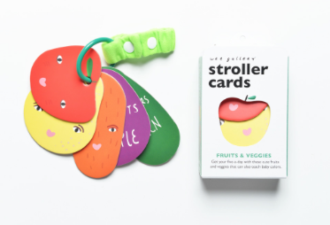 """I Spy - Fruit and Veggies"" Stroller Cards - Belle Bellina"