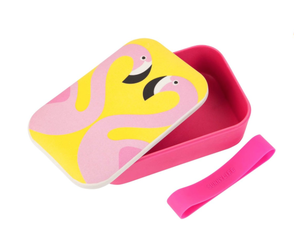 Sunny Life Eco Lunch Box Flamingo - Belle Bellina
