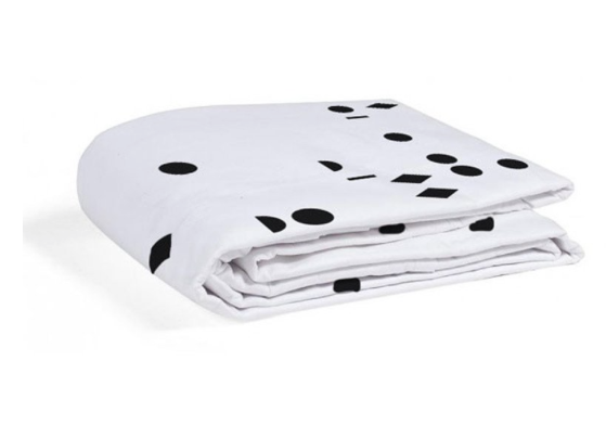Gautier Polka Fitted Sheet Black Seeds - Belle Bellina