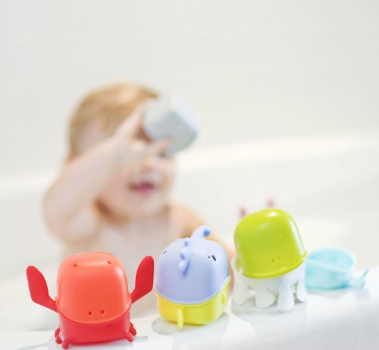 Boon Creatures INTERCHANGEABLE BATH TOY CUP SET - Belle Bellina  - 2
