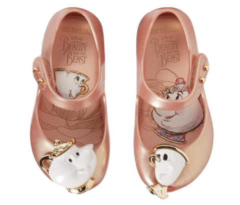 Mini Melissa Ultragirl Beauty & The Beast Mary Jane Shoes