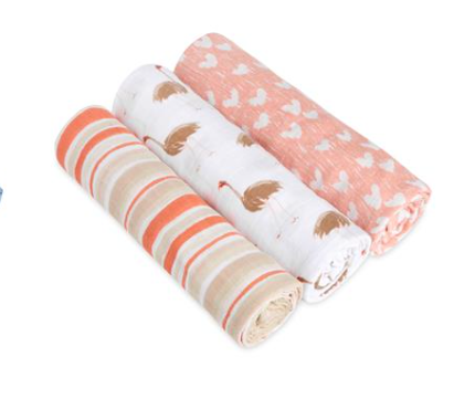 Aden + Anais Flock Together 3 Pack Classic Swaddle Set