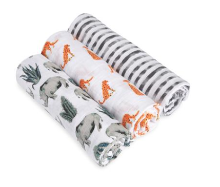Aden + Anais Serengeti 3 Pack Classic Swaddle Set