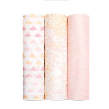 Metallic Primrose Birch 3 Pack Silky Soft Swaddles