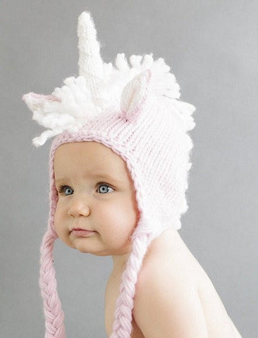 The Blueberry Hill-Unicorn Knit Hat - Belle Bellina  - 1